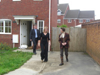 Princess Anne meets local residents